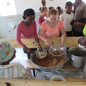 One of the times we fed the kids