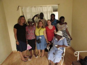 The ladies at the widows' home